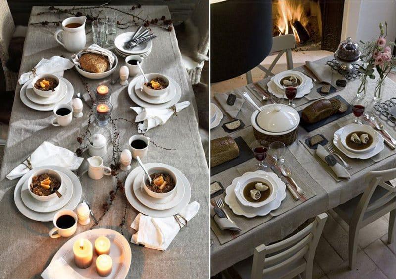 Сервировка-стола-в-рустикальном-стиле