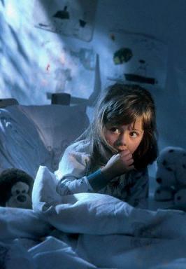 Girl Afraid in Bed ca. 2001