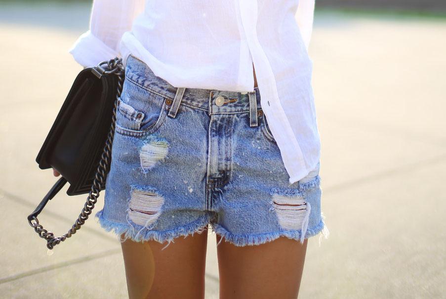 джинсовые-шорты